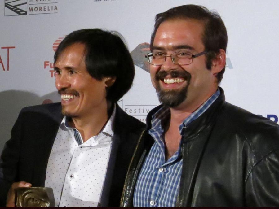 """El actor Leonardo Alonso y el director Diego Ros, ganadores por la película """"El vigilante"""
